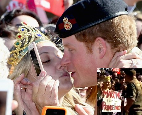 Prince Harry kissing a blonde