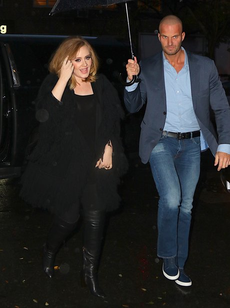 Adele wearing an all black outfit