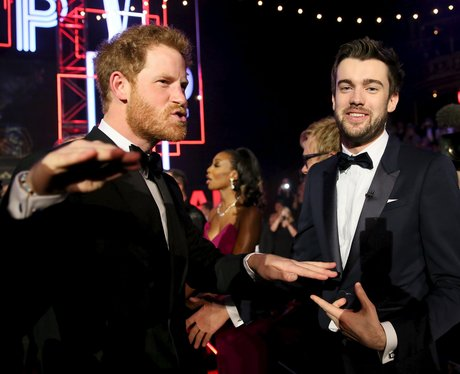 Prince Harry an Jack Whitehall (funny faces)
