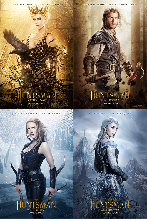 The Huntsman Character posters