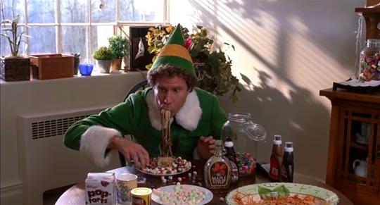 elf film eating food