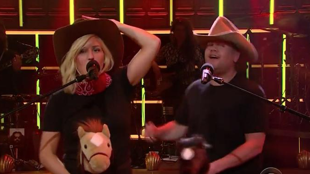 James Corden and Ellie Goulding Sing 8 Hilarious Remixes Of 'Love Me Like You Do'