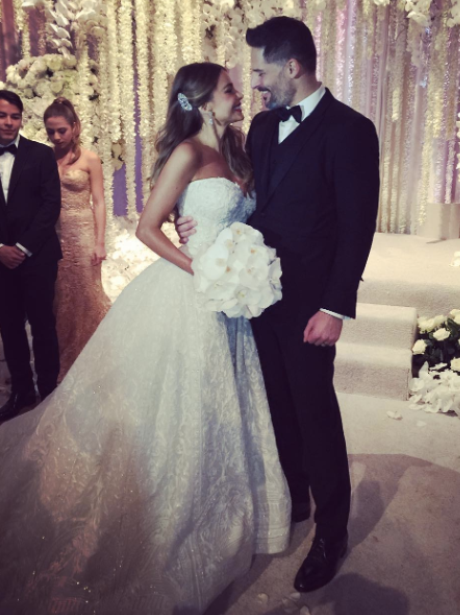 Sofia Vergara in a wedding gown