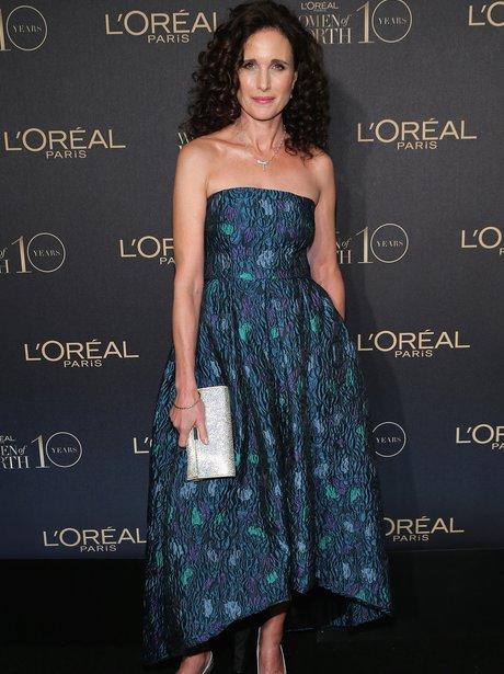 andie macdowell loreal women of the year awards ge