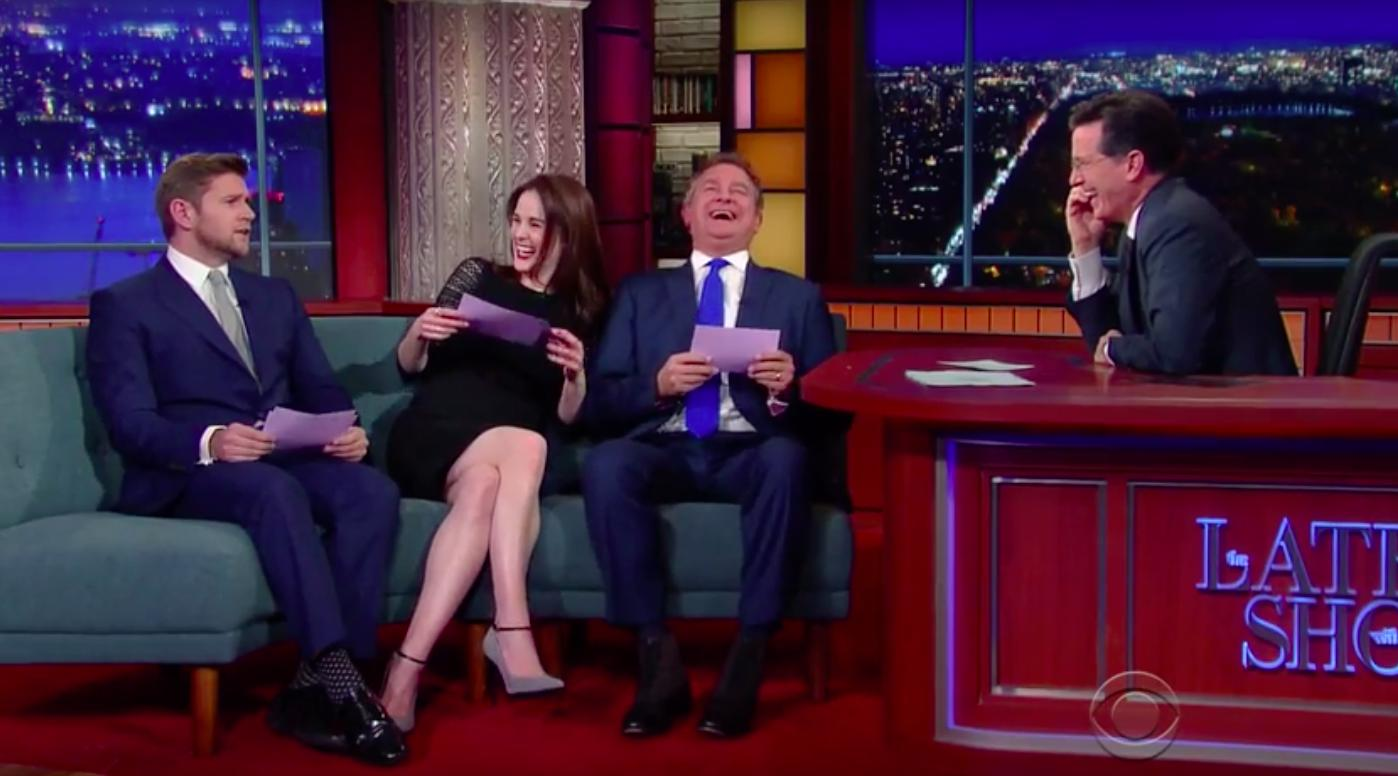 Downton Abbey cast The Late Show