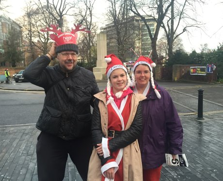 Heart At The Reading Santa Run