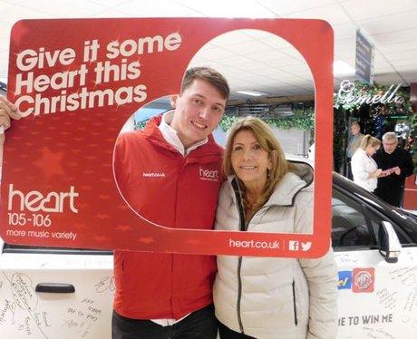 Heart's Christmas Carma at Tesco Newport!