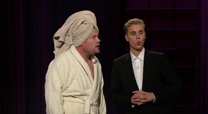 James Corden Justin Bieber