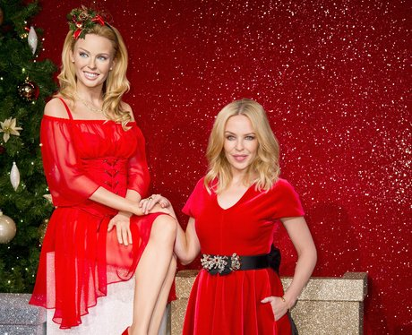 Kylie Minogue With Her Waxwork