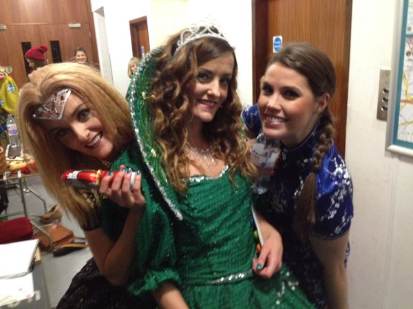 Becky with the B*witched sisters