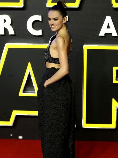 Daisy Ridley attends European Star Wars Premiere