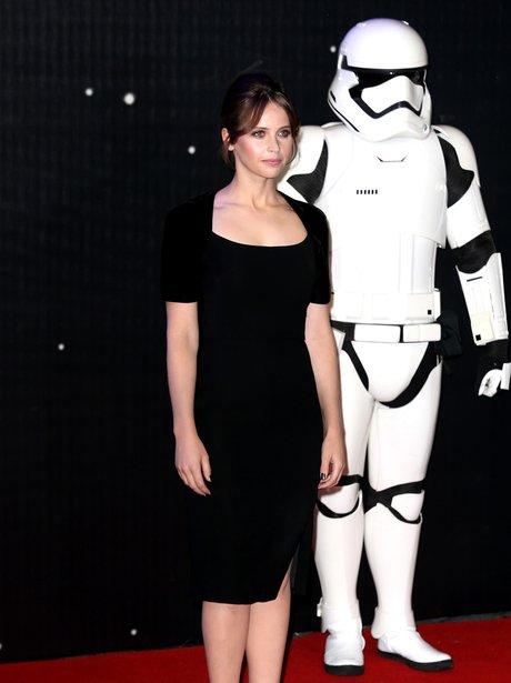 Felicity Jones attends European Star Wars Premiere