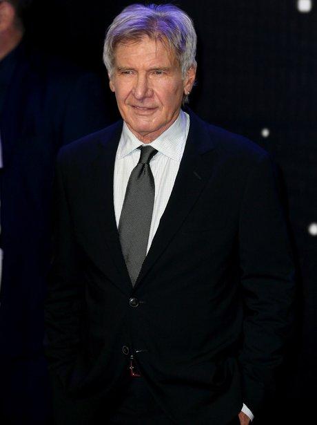 Harrison Ford attends European Star Wars Premiere