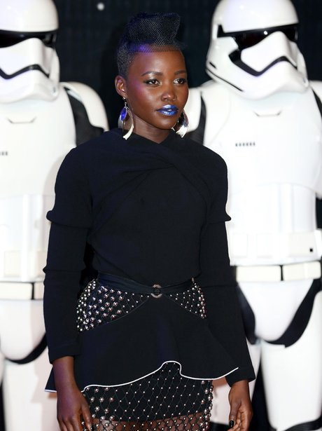 Lupita Nyong'o attends European Star Wars Premiere