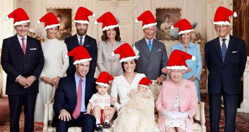 the royal family at christmas heart