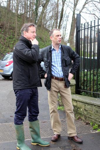 David Cameron flood york