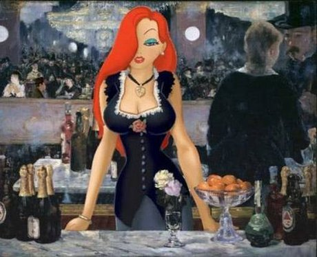 disney photoshopped onto famous paintings worth100