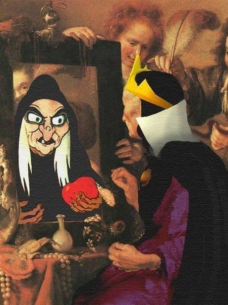 disney photoshopped onto famous paintings worth100