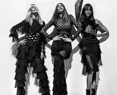 Naomi Camppbell, Claudia Schiffer and Cindy Crawfo