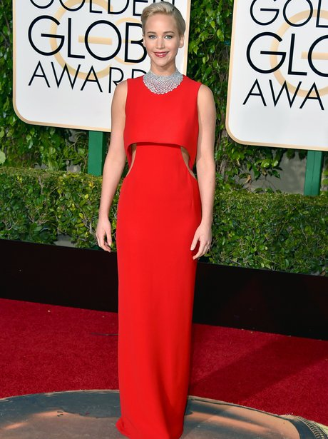 Jennifer Lawrence at the Golden Globe Awards 2015