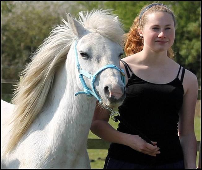 Laura Davies and pony