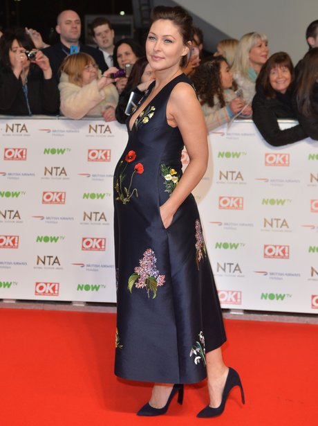 Emma Willis at the national tv awards 2016