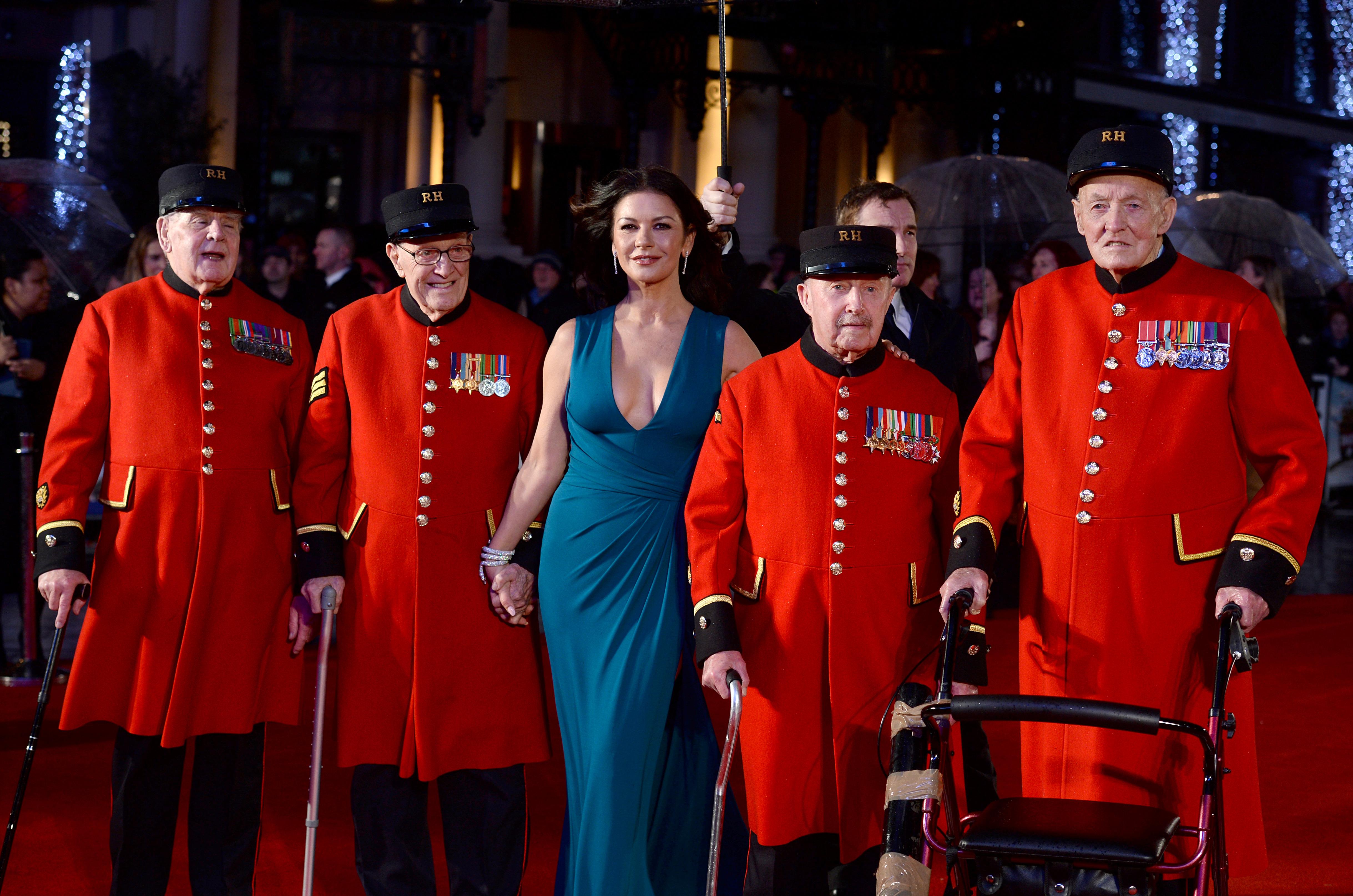 Catherine Zeta-Jones arrives with Chelsea Pensione
