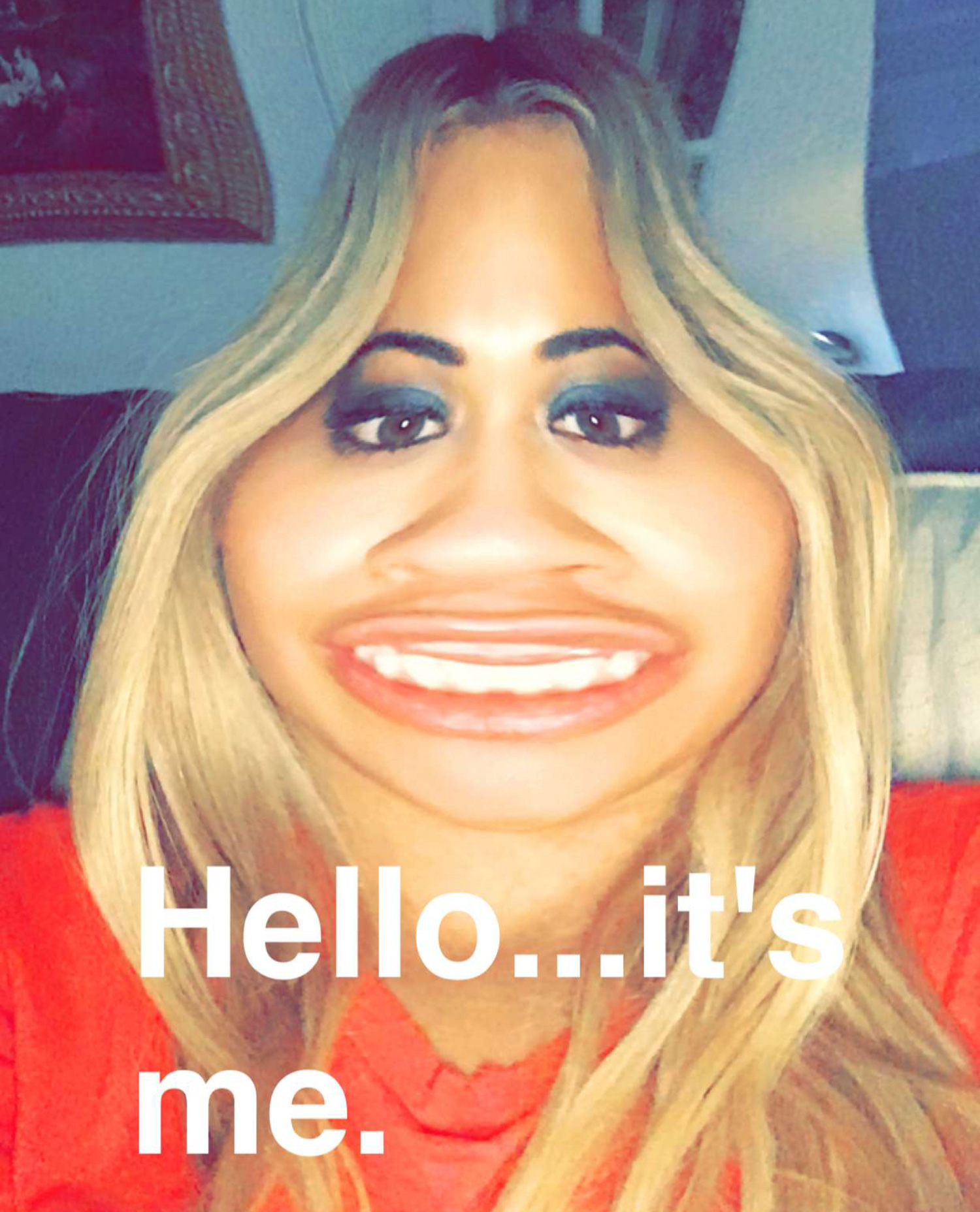 Rita Ora snapchat spoof