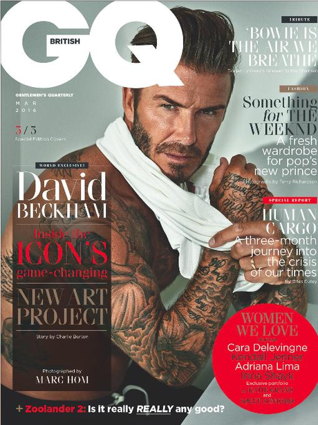 David Beckham GQ Cover