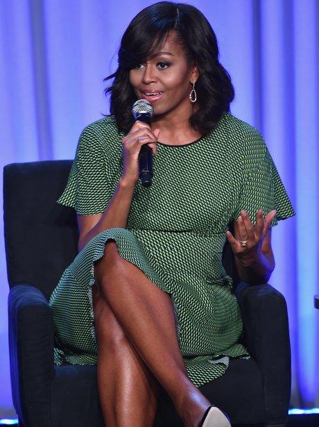 Michelle Obama Media With A Purpurpose Conference