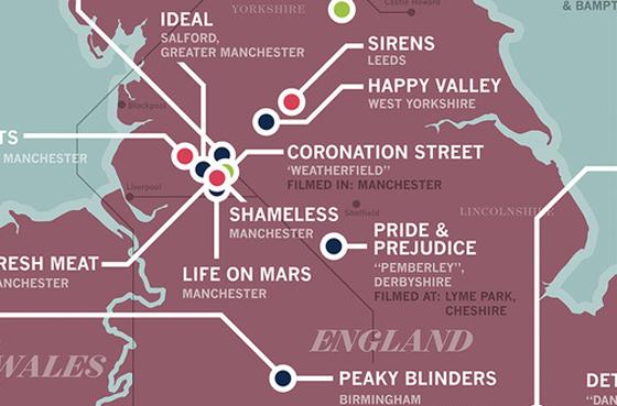 British TV map