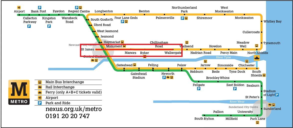 Tyne wear metro closures February 2016