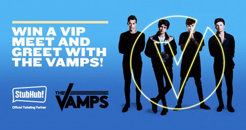 Meet the vamps with stubhub heart london your chance to win a vip meet and greet experience with the vamps m4hsunfo