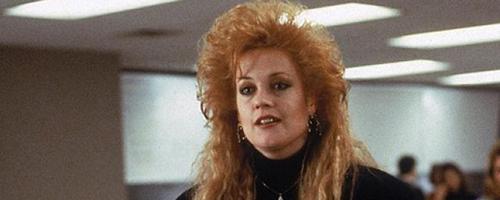 Melanie Griffiths Working Girl 1980s hair