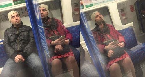 Tube passenger London Underground Optical Illusion