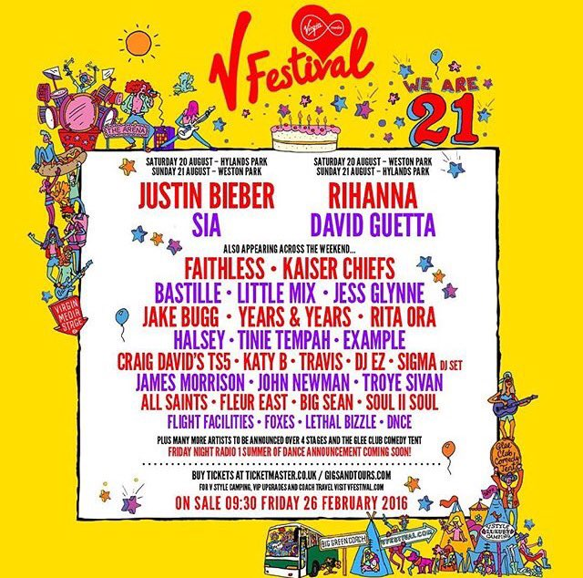 V Festival 2016 line-up