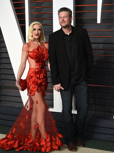Gwen Stefani and Blake Shelton Vanity Fair Oscars 2016