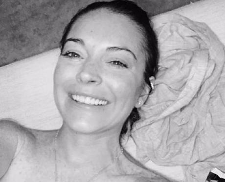 Lindsay Lohan with no makeup on