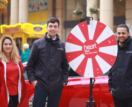Heart and Vauxhall Astra at Intu Trafford Centre