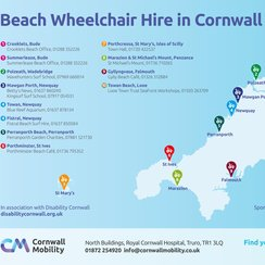 Map of Beach Wheelchairs