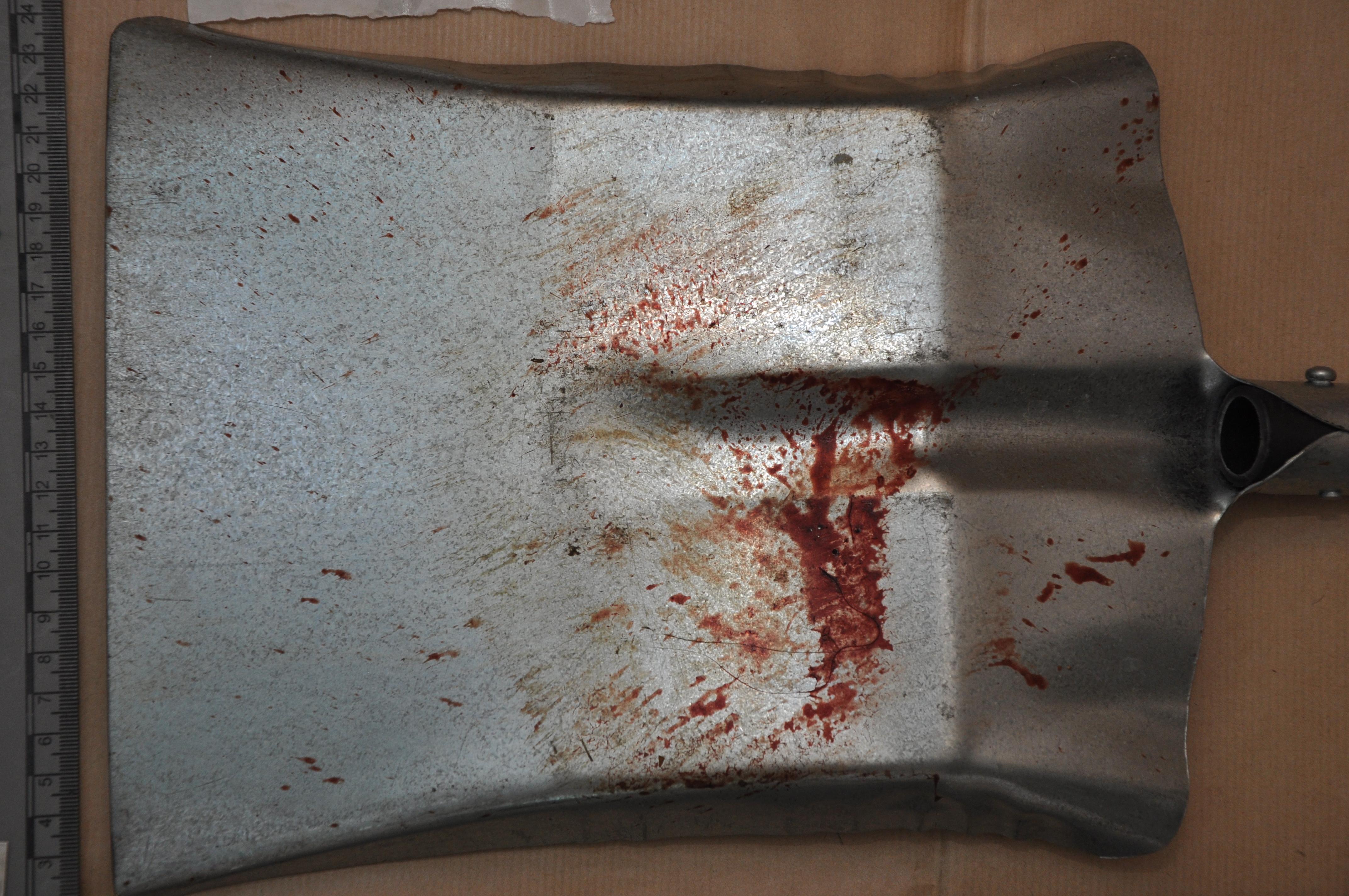 Hartlepool murder weapon shovel