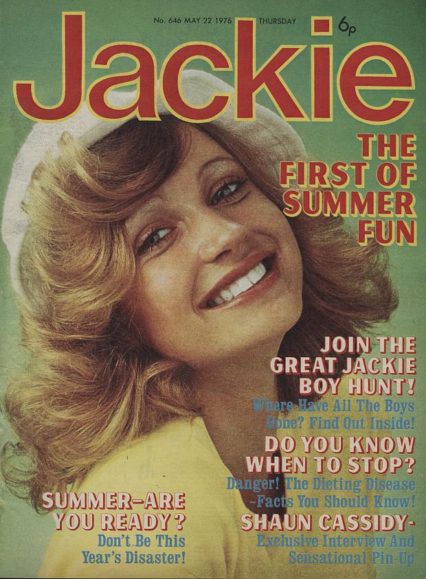 Jackie magazine cover 70s
