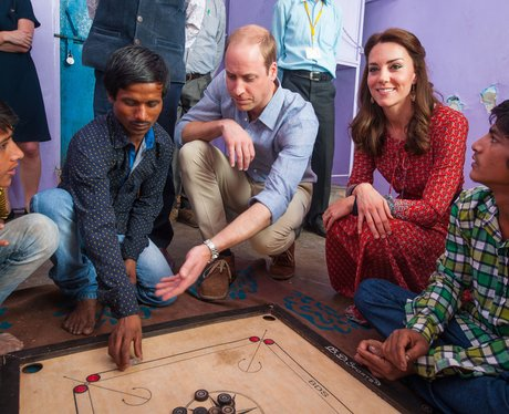Prince William and Duchess of Cambridge play royal