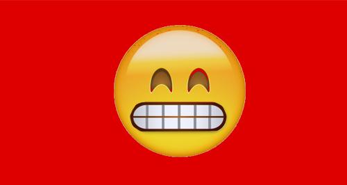 Barred Grin Emoji