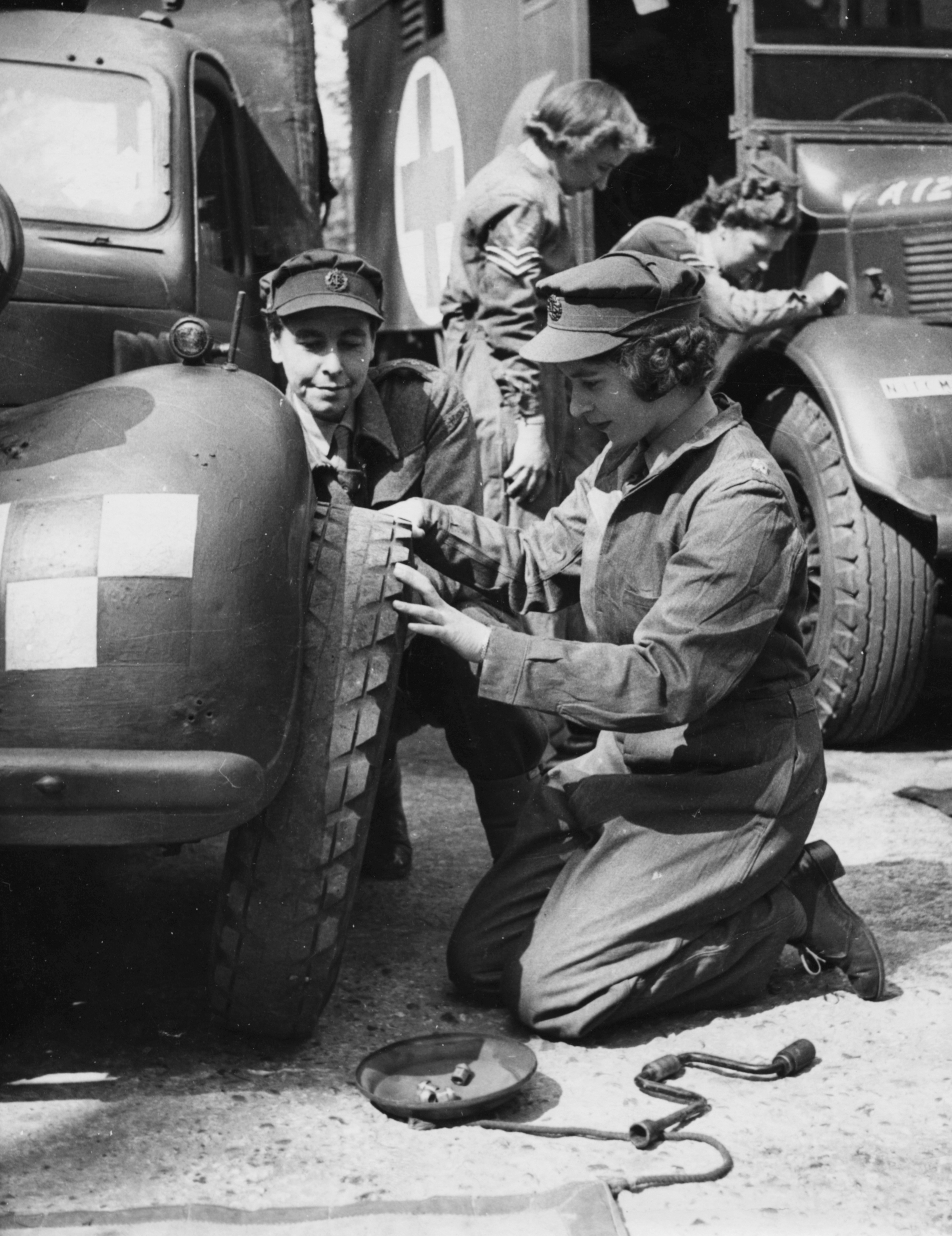 Princess Elizabeth mechanic WWII