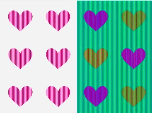 Colour are these hearts?