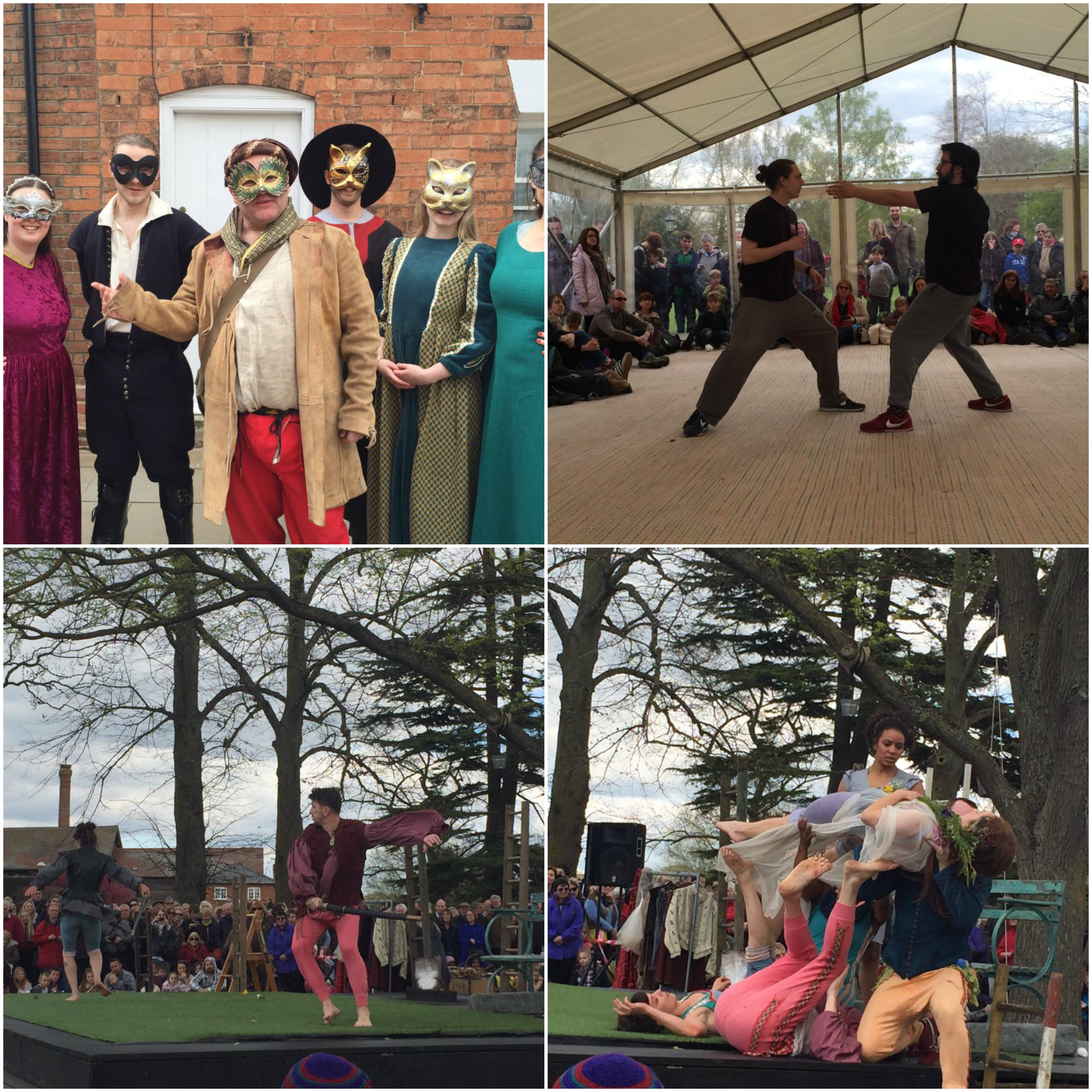 Performers at Shakespeare's 400th celebrations