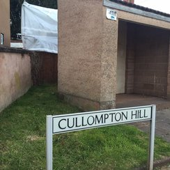 Cullompton Hill sign