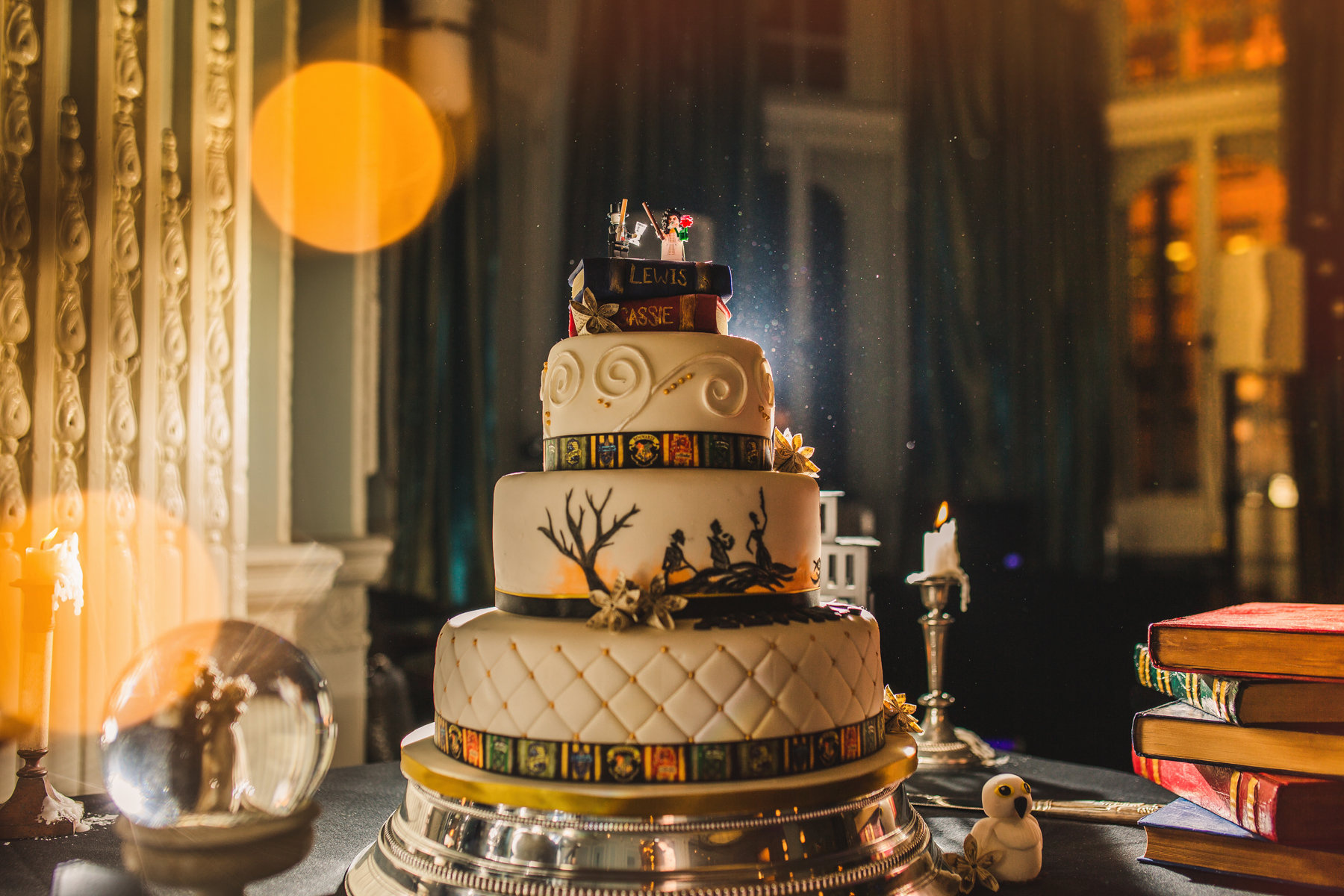 Cassie and Lewis Harry Potter themed wedding