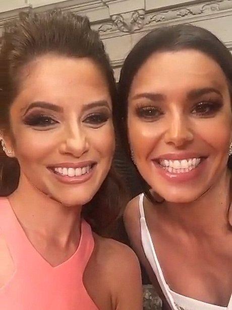 Eva Longoria and Cheryl Cole swap faces